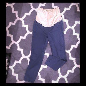 Loft maternity pants, gray/blue